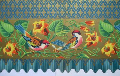 Carte decorative popolari italiane: le bordure da camino